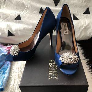 Only worn once Badgley Mishka Royal Blue heels 💙